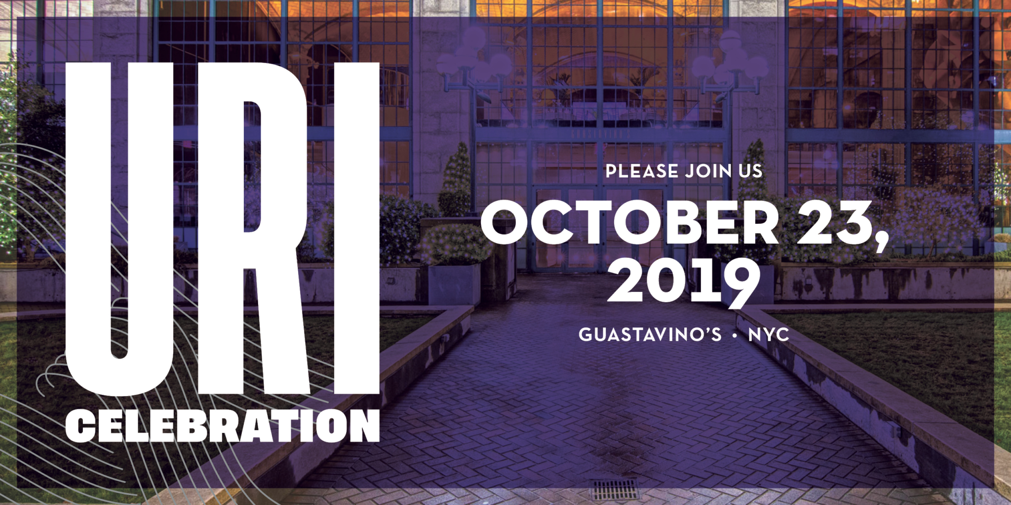 Please Join Us October 23, 2019. Guastavino's NYC