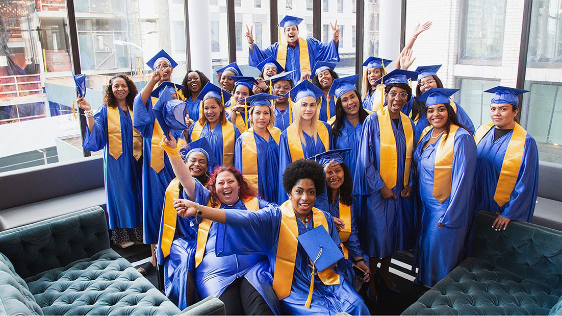 A group of recent graduates